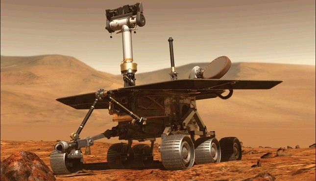 This file computer generated image obtained on August 31, 2018 shows the Opportunity rover of NASA part of the Mars planet exploration program. (Nasa via AFP Photo)