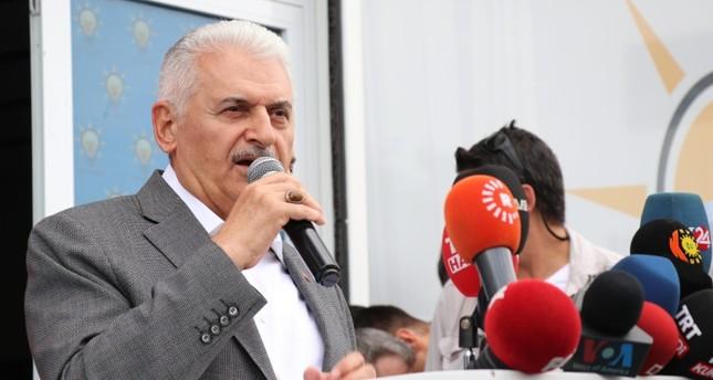 مرشح حزب العدالة والتنمية بن علي يلدريم (الأناضول)