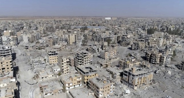 Drone footage shows devastation in Raqqa after the city was captured by the YPG, Oct. 19, 2017.