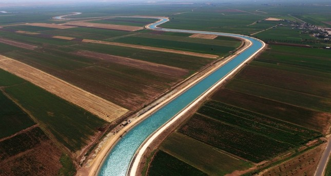 The Harran Plain enjoys benefits of an irrigation network courtesy of two tunnels linking it to the Atatürk Dam.