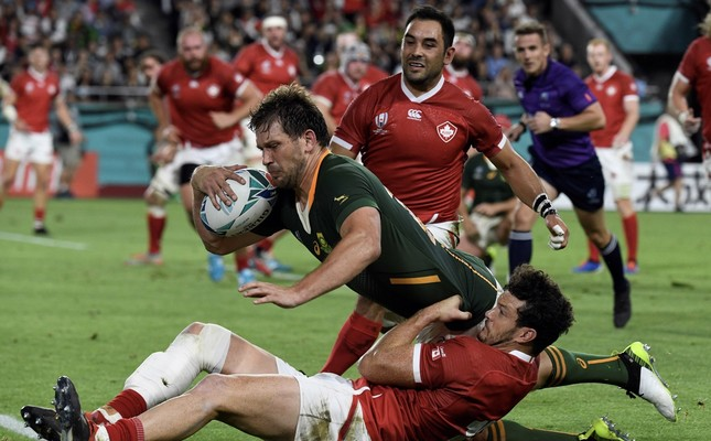 South Africa beat Canada to storm into Rugby World Cup quarterfinals