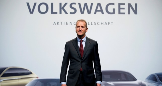 Herbert Diess, Volkswagen's new CEO, poses during the Volkswagen Group's annual general meeting in Berlin, Germany, May 3, 2018. (REUTERS Photo)