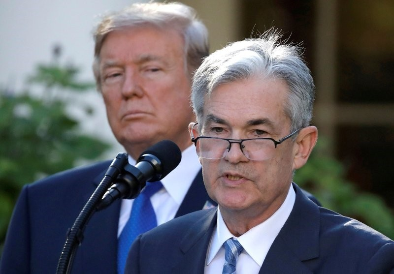 U.S. President Donald Trump looks on as Jerome Powell, his nominee to become chairman of the U.S. Federal Reserve, speaks at the White House in Washington, U.S., November 2, 2017. (Reuters Photo)