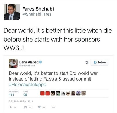 Reactions from social media users caused Shehabi to delete his tweet.