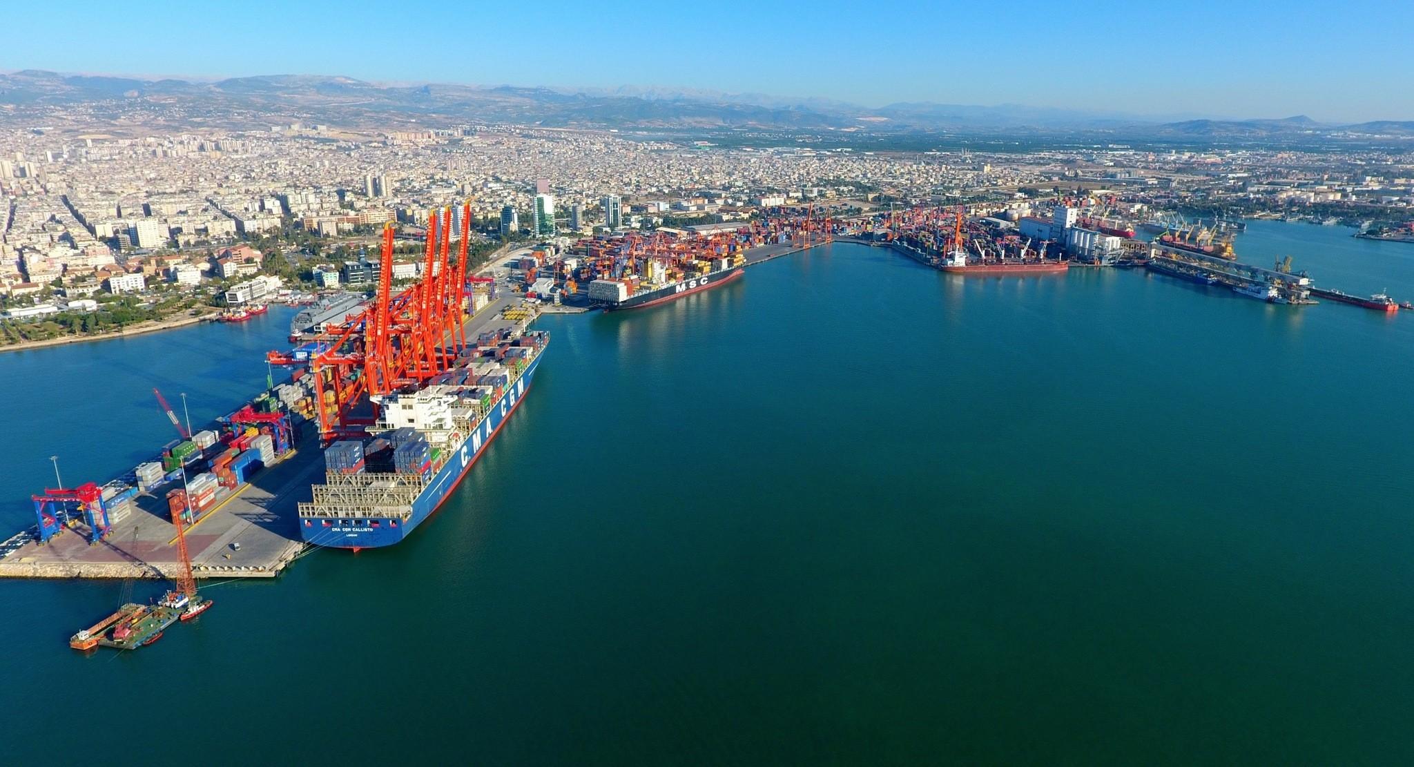 Port of Mersin, southern Turkey.