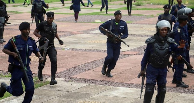 Congolese riot policemen gather to disperse supporters of Martin Fayulu, Jan. 12, 2019. Reuters File Photo