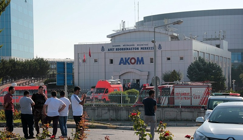 AKOM headquarters in Istanbul pictured a day after the deadly coup attempt (Sabah File Photo)