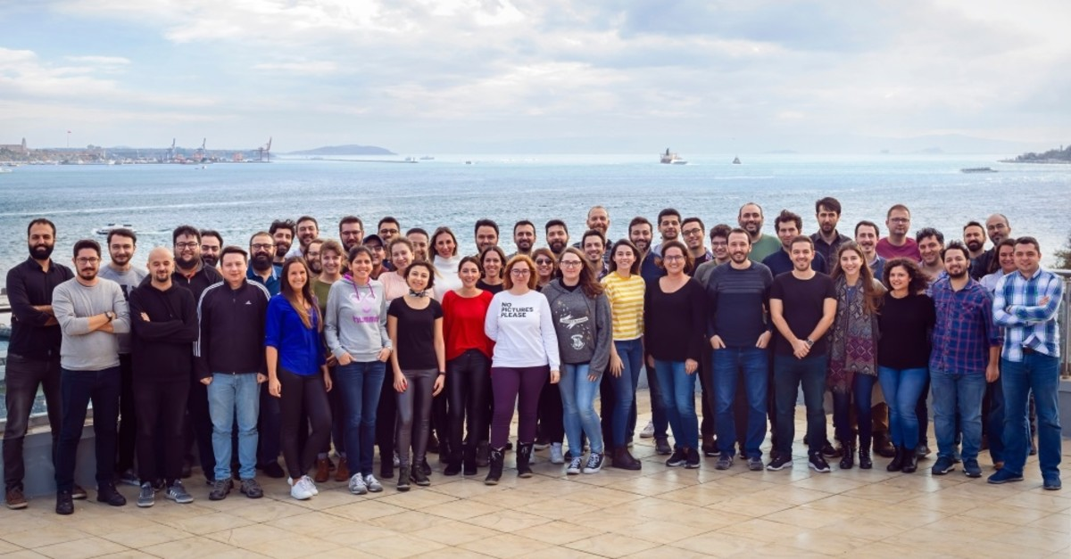 Team photo of Peak Games, a Turkish game developer which ranked 26th among 56 mobile applications with an economic size of $101 billion.