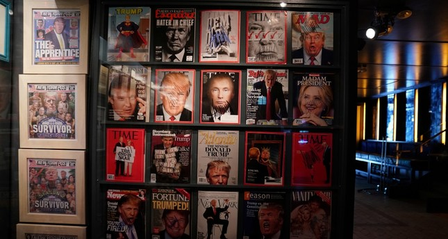 Artist-provocateur Andres Serrano's takes on U.S. President Donald Trump with a new exhibit called The Game: All Things Trump in New York, U.S., April 25, 2019.