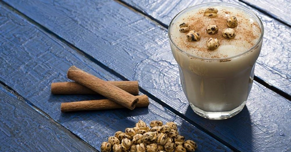 Boza is typically served topped with cinnamon and crunchy roasted chickpeas. (iStock Photo)