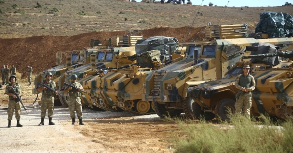 Turkish armored vehicles near the Syrian border (AA File Photo)