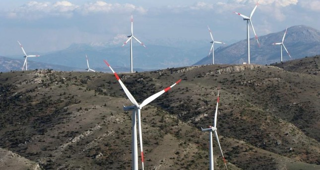 Turkey plans to add 10,000 MW to wind power capacity in the next decade. AA Photo