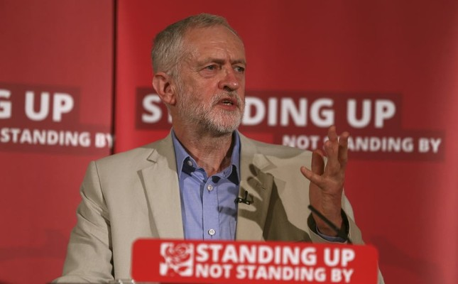 Labour Party leader Jeremy Corbyn speaks on immigration and moving on after the EU referendum in central London, Britain, June 25.