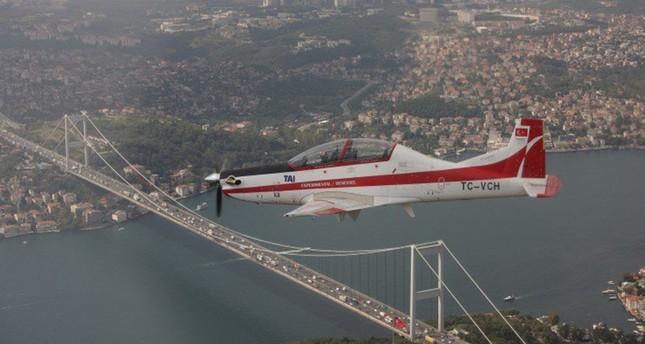 طائرة التدريب التركية محلية الصنع  (وكالة إخلاص للأنباء)