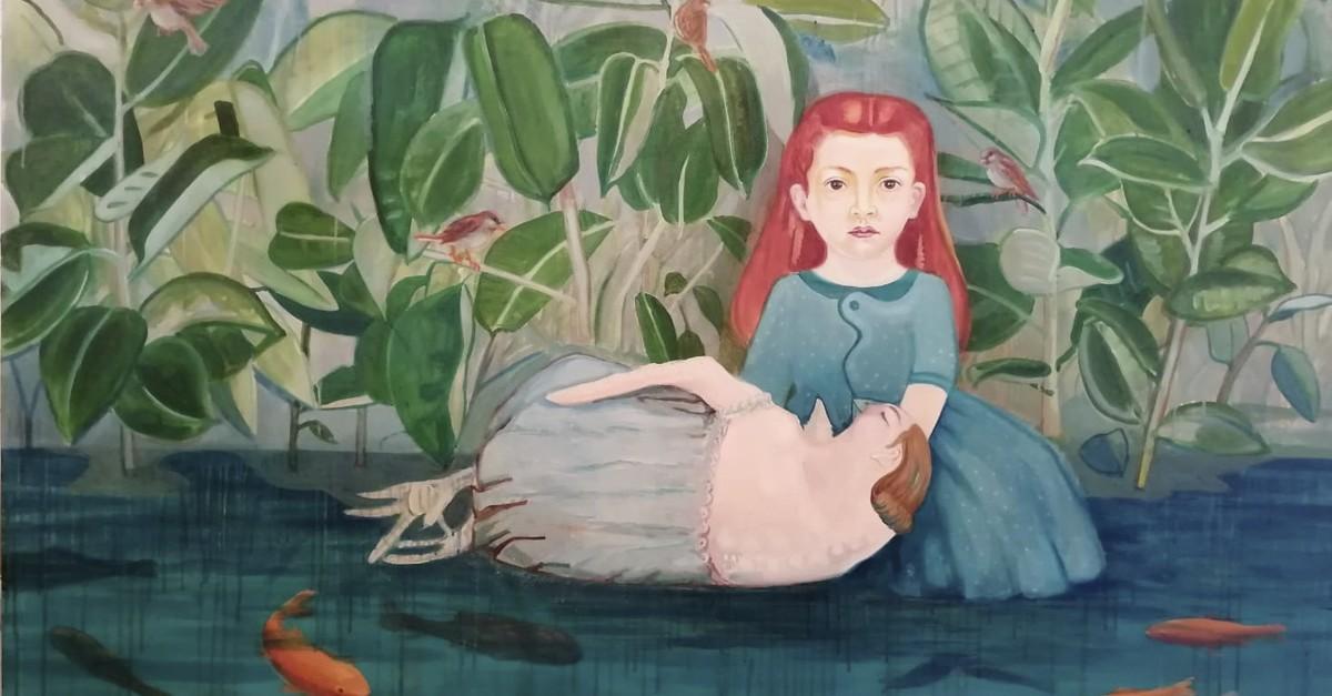 Banu Birecikligil, u201cSirenin u00d6lu00fcmu00fcu201d (u201cThe Death of Sirenu201d) 2019, oil on canvas, 130x170 cm.