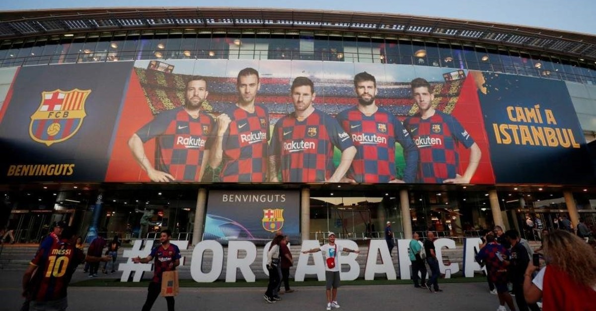General view outside the Camp Nou stadium of Barcelona, Oct. 2, 2019. (Reuters Photo)