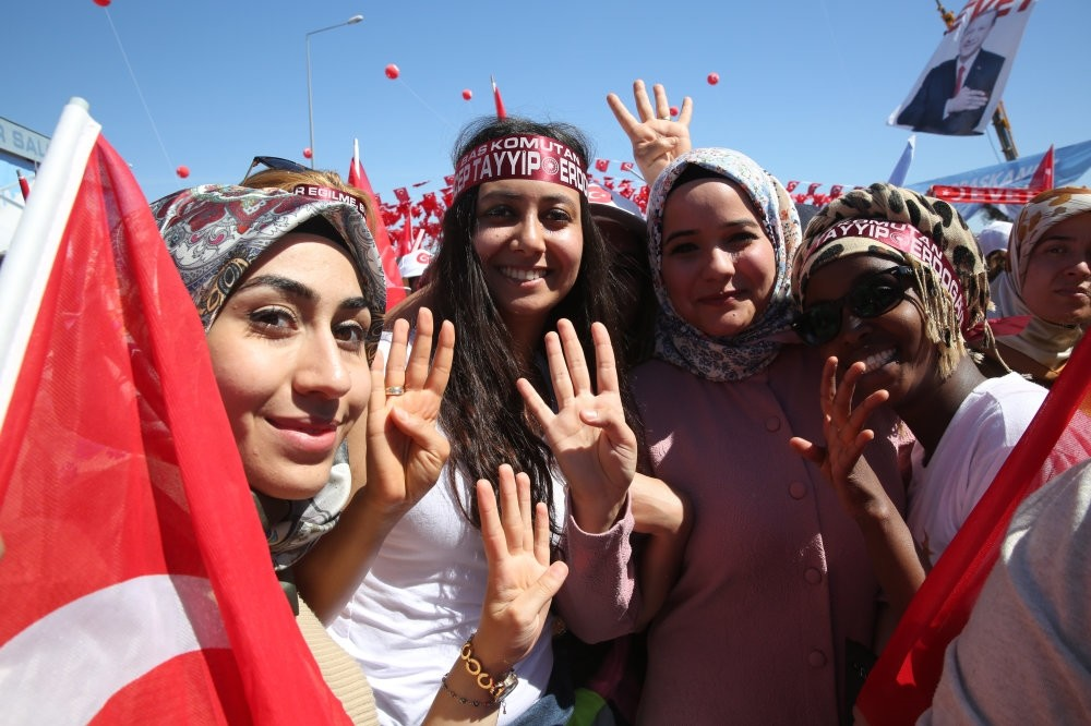 President Erdou011fan urged the AK party's women branch to continue carrying out favorable work more than ever.