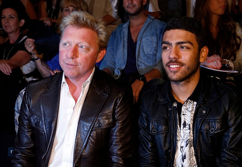 This file photo taken on July 07, 2012 shows former tennis player Boris Becker (L) and his son Noah Becker in Berlin. (AFP Photo)
