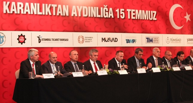 Business associations, gathered in the aftermath of the failed coup attempt on July 15 to launch their support for democracy, agreed to take the measures needed to root out any business people linked with FETÖ.