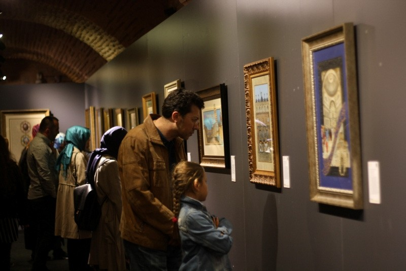 People are looking at the exhibits at the Turkish and Islamic Arts Museum in Istanbul, Turkey, May 5, 2018. (AA Photo)