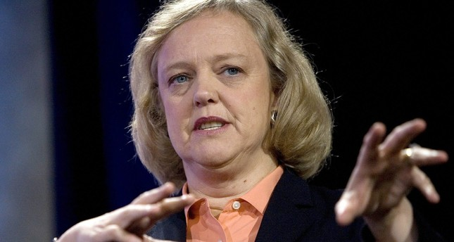 Meg Whitman, former president and CEO of eBay Inc., speaks at the Web. 2.0 Summit in San Francisco in 2007.
