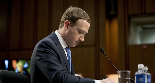 In this April 10, 2018, file photo Facebook CEO Mark Zuckerberg pauses while testifying before a joint hearing of the Commerce and Judiciary Committees on Capitol Hill in Washington. (AP Photo)