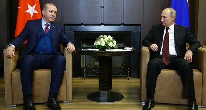 pPresident Recep Tayyip Erdoğan discussed the situation in Syria's Afrin and Idlib with his Russian counterpart Vladimir Putin in a phone call Monday./p  pThe phone call focused on issues...
