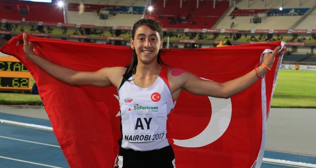 Mizgin Ay, who ran the 100-meter final at the World Star Athletics competition in Kenya last July, became the first Turkish female sprinter to earn a gold medal in the Girls' 100-Meter Finals.