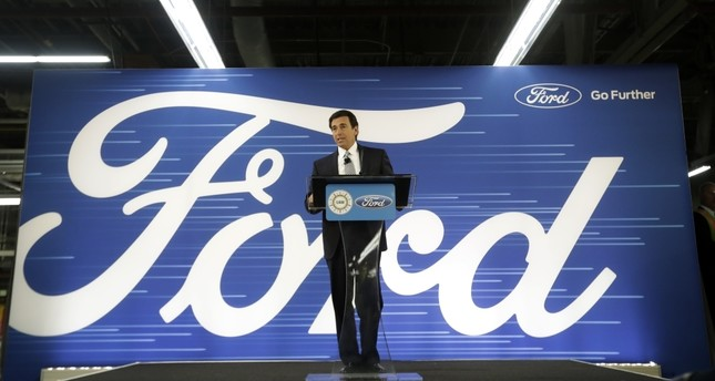 Ford President and CEO Mark Fields addresses the  Flat Rock Assembly in Flat Rock, Michigan.