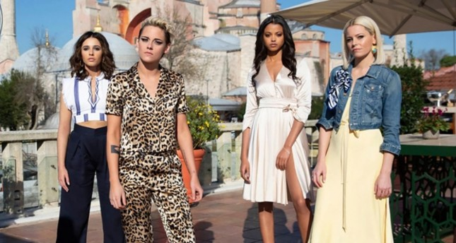 Kristen Stewart, Naomi Scott,  Ella Balinska and Elizabeth Banks star in Charlie's Angels. (FILE Photo via GUNAYDIN)