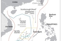Philippine President Rodrigo Duterte said Sunday he could not stop China from building on a disputed shoal near his country's west coast because it was too powerful.  The mayor of China's Sansha...
