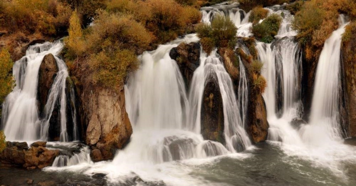Muradiye Waterfalls in the eastern Anatolian province of Van stand out with their exquisite scenery.