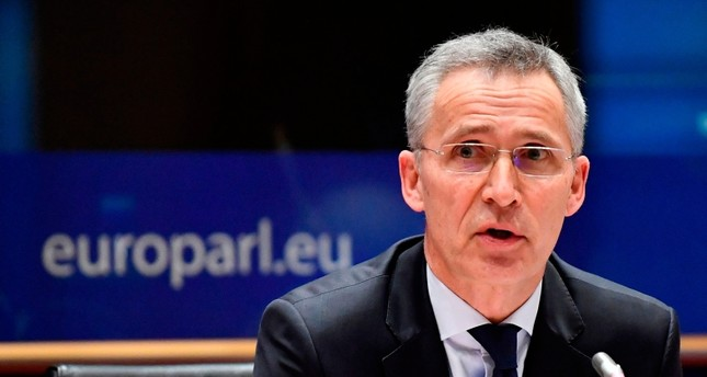 NATO Secretary General Jens Stoltenberg addresses the European Parliament Committee on Foreign Affairs AFET and Sub-Committee on Security and Defence SEDE at the EU headquarters in Brussels on January 21, 2020. AFP Photo