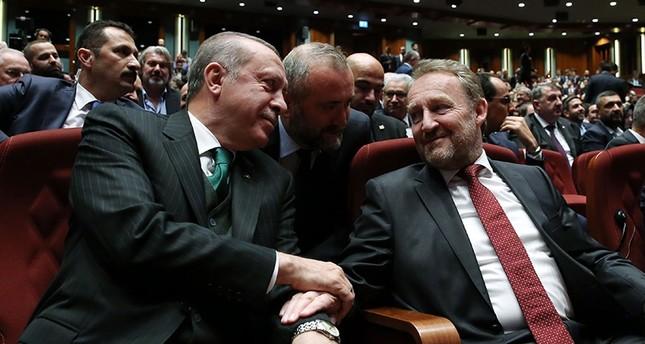 Bosnian president Bakir Izetbegovic (R) with President Erdoğan in Ankara on October 23, 2017 (Sabah File Photo)