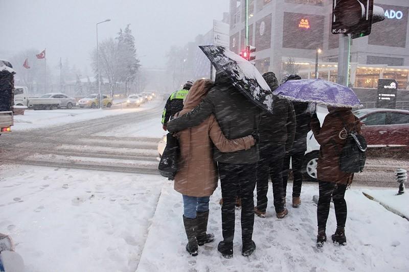 Turkey's northwest Edirne province blanketed in snow (IHA photo)