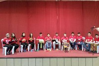 Hearing impaired students go through musical experience