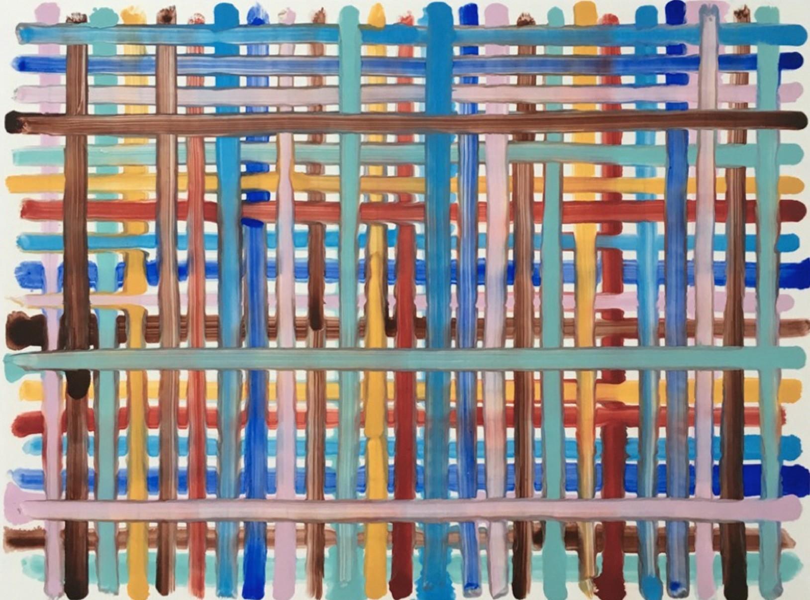 Bernard Frize, u201cMelia-sept,u201d acrylic and resin on canvas, 2017.