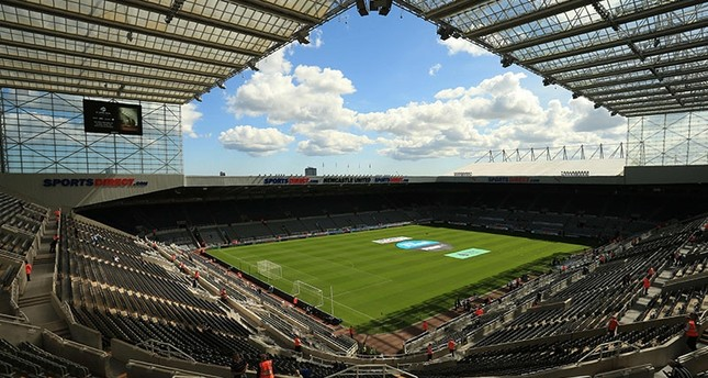 This file photo taken on Aug. 13, 2017 shows St James' Park stadium, home ground of Newcastle United, pictured in Newcastle-upon-Tyne, NE England, ahead of the Premier League football match between Newcastle United and Tottenham Hotspur. (AFP Photo)