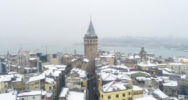 إسطنبول.. انخفاض درجات الحرارة وتوقعات بتساقط كثيف للثلوج