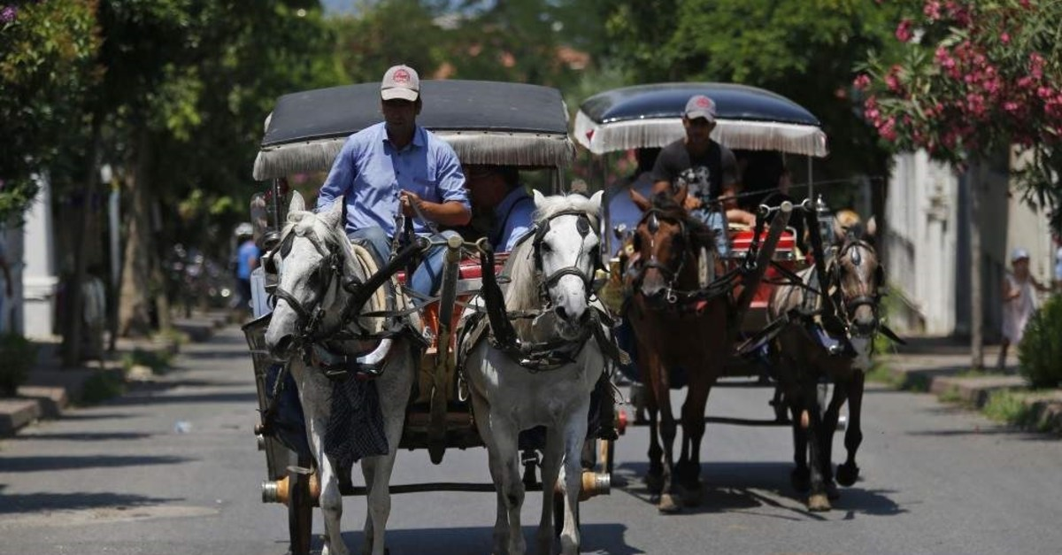 Horse carriages have been the main mode of transportation on the Princes' Islands for years. (AP Photo)