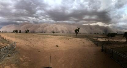 Dust storms, hail batter bushfire-weary Australia