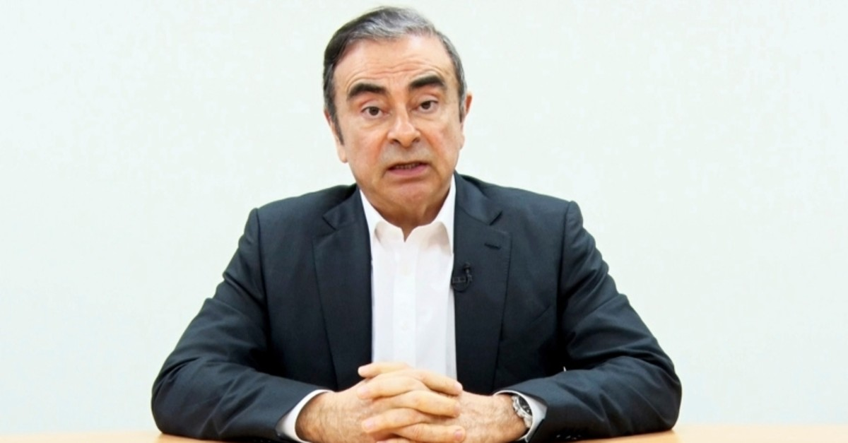 In this image made from video released by Carlos Ghosn via his lawyer Tuesday, April 9, 2019, former Nissan chairman Ghosn speaks on camera in Tokyo. (AP Photo)