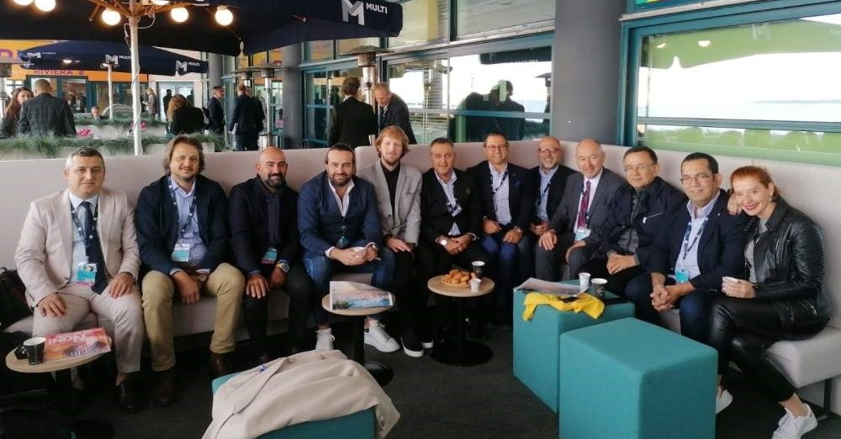 Executives of leading Turkish retail brands meet with journalists on the sidelines of MAPIC, Cannes, France, Nov. 14, 2019.