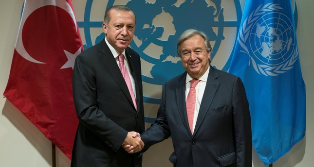 Erdoğan holds phone call with UN secretary-general