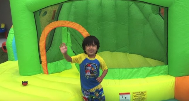 Screengrab from the most watched video on Ryan ToysReview's YouTube channel.