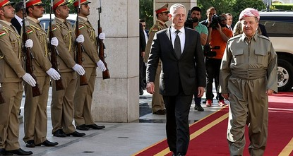 pU.S. Defense Secretary James Mattis on Tuesday told Iraqi Prime Minister Haidar al-Abadi that Washington rejects any action that could threaten Iraq's territorial integrity./p