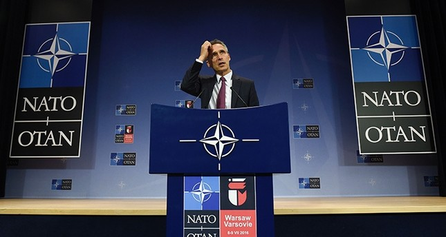 NATO Secretary-General Jens Stoltenberg speaks during a press confenrence following a meeting of NATO defence ministers with their Ukrainian counterpart at the NATO headquarters in Brussels on June 15, 2016. (AFP Photo)