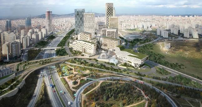 نموذج تصميمي لمركز إسطنبول المالي الجاري بناؤه حالياً