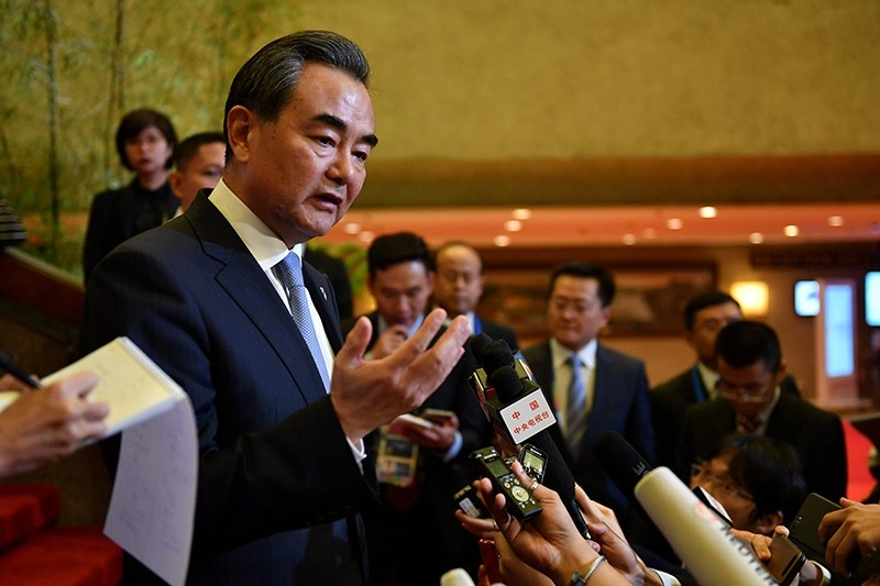 China's Foreign Minister Wang Yi speaks during a press conference on the sidelines of the 50th Association of Southeast Asian Nations (ASEAN) regional security forum in suburban Manila on August 7, 2017 (AFP Photo)