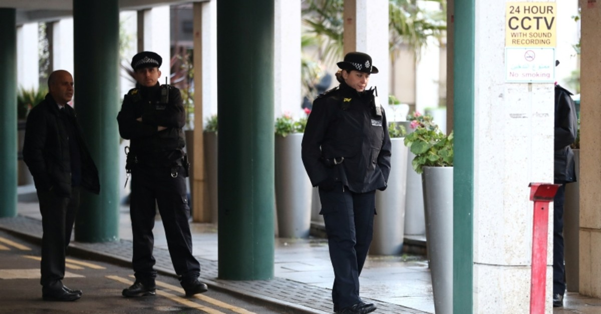 Police officers are seen outside the London Central Mosque in London, Britain, February 20, 2020. (Reuters Photo)
